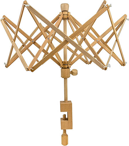 Stanwood Needlecraft Wooden Umbrella Swift Yarn Winder from Amazon