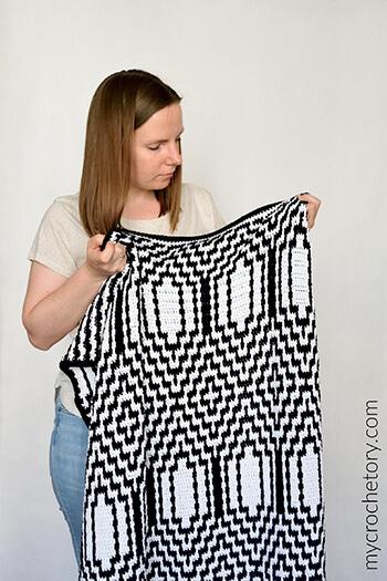 Thassos Mosaic Crochet Blanket Pattern By My Crochetory