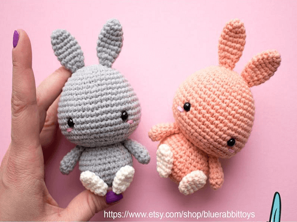 Amigurumi Tiny Bunny Crochet Pattern by Blue Rabbit Toys