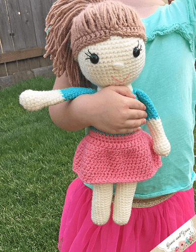 Amy, The Amigurumi Doll Crochet Pattern by Grace And Yarn