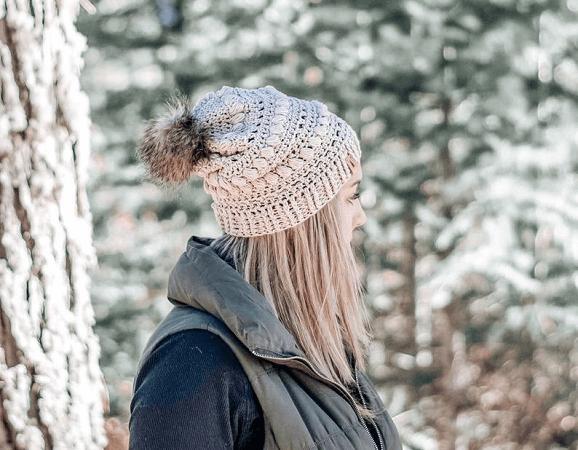 Azalea Slouchy Beanie Crochet Pattern by Wild Sapling