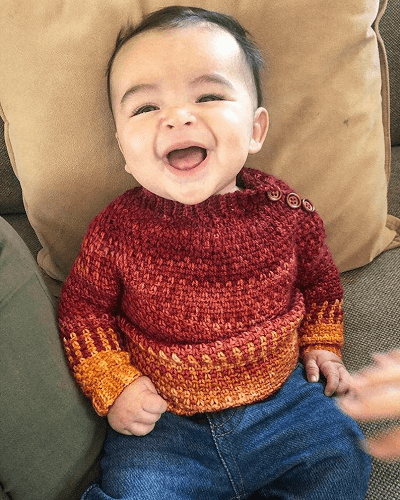 Baby Sweater Crochet Pattern by Nomad Stitches