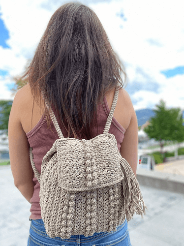 Boulevard Backpack Crochet Pattern by Kozi Knitz