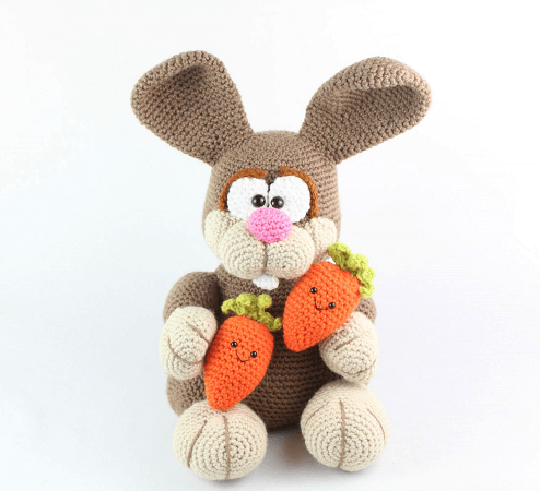 Bunny Rabbit Amigurumi Crochet Pattern by Stringy Ding Ding