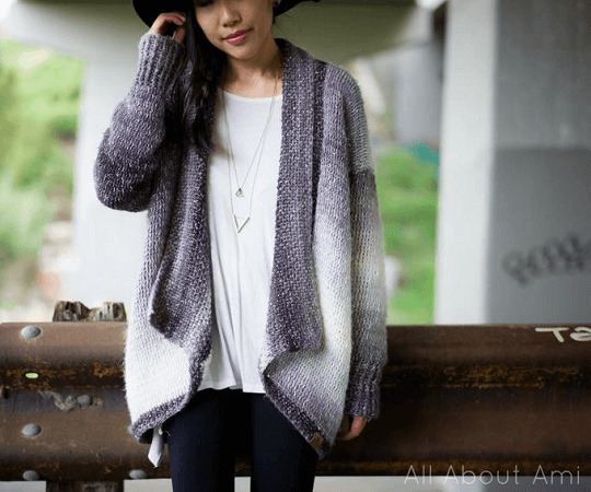 Cascade Cardigan Crochet Pattern by All About Ami