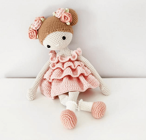 Crochet Amigurumi Doll Pattern by Workroom Julia Litvin