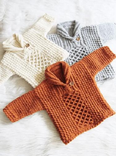 Crochet Baby Boy Sweater Pattern by Crochet Dreamz