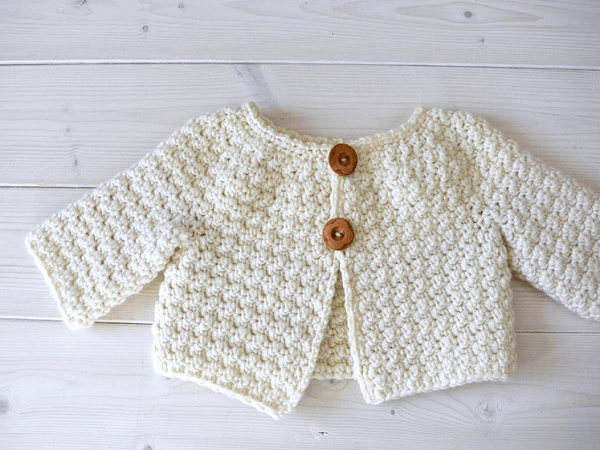 Crochet Baby Cardigan Pattern by Wooly Wonders Crochet
