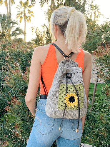 Crochet Boho Backpack Pattern by Tzigns