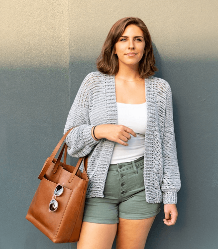 Easy Crochet Cardigan Pattern by Sewrella