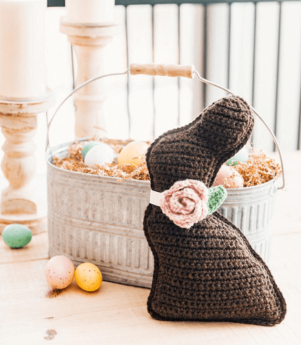 Crochet Chocolate Bunny Amigurumi Pattern by Sewrella