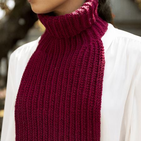 Crochet Collar Scarf Pattern by Yarnspirations