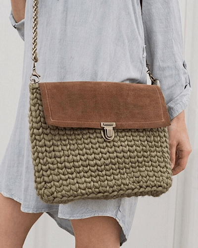 Crochet Cross Body Bag Free Pattern by Megmade With Love