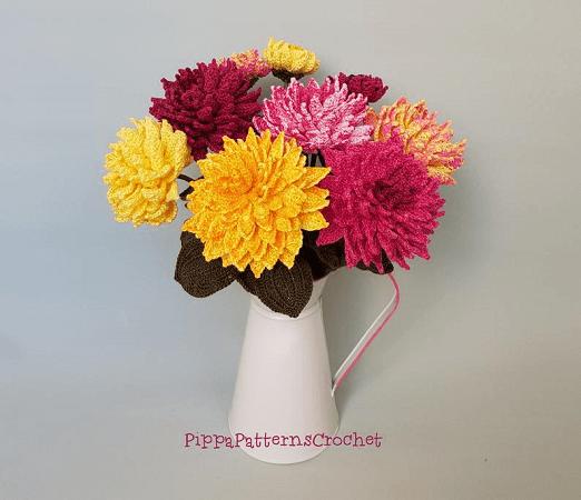 Crochet Dahlia Flower Pattern by Pippa Patterns Crochet
