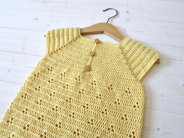 Crochet Daisy Dress Pattern by Wooly Wonders Crochet