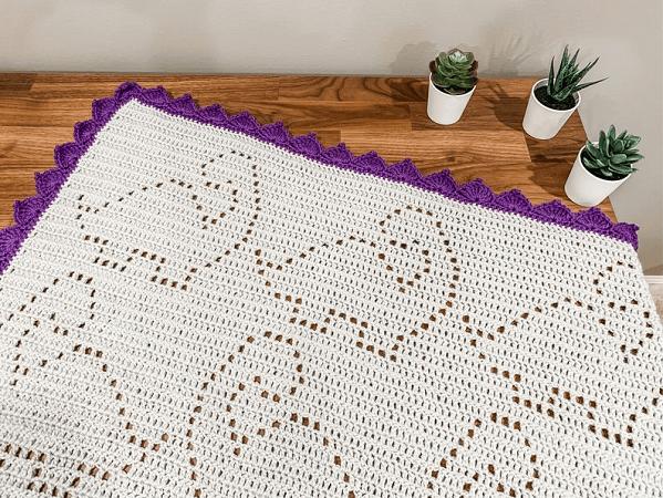 Crochet Dinosaur Blanket Pattern by Owl B Hooked