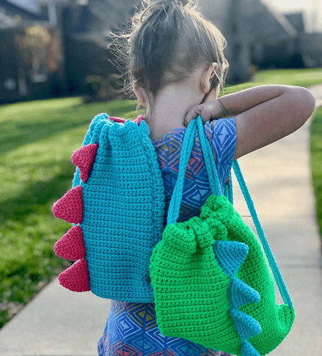 Crochet Dinosaur Backpack Pattern by A Crafty Concept