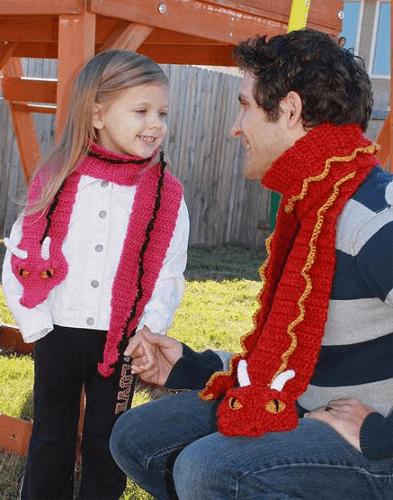 Crochet Dragon Scarf Pattern by Bri Abby HMA
