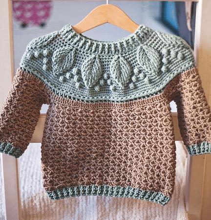 Crochet Harvest Sweater Pattern by Mon Petit Violon