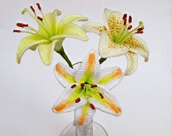 Crochet Lily Flower Pattern by Fox Stitch Design