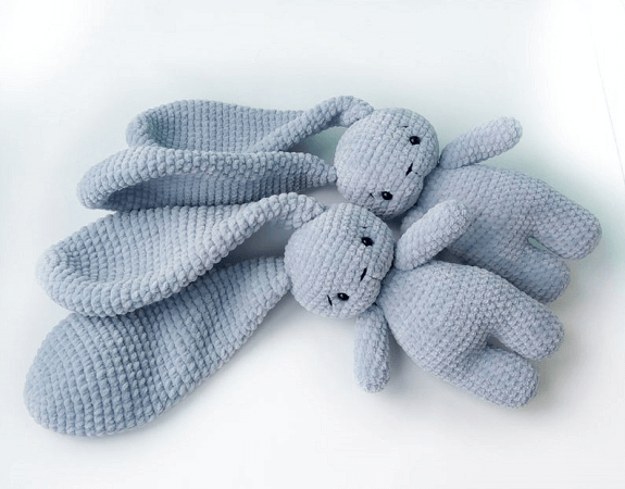 Crochet Long Ears Bunny Amigurumi Pattern by Crochet Toys Bunny Co