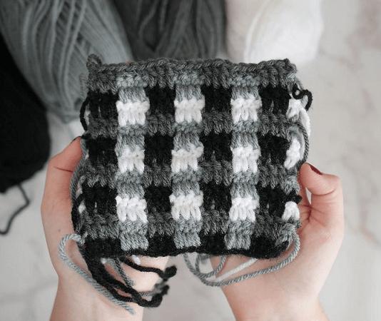 Plaid Stitch from DIY Everywhere