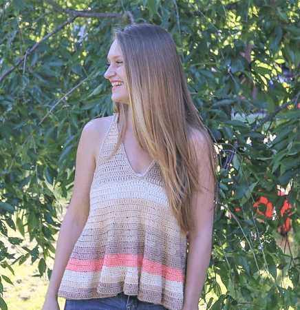 Crochet Racerback Top Pattern by Life And Yarn Designs