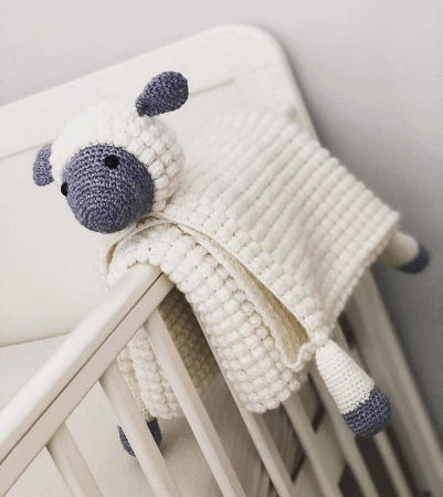 Baby Blanket Crochet Sheep Pattern by Crafting Happiness UK