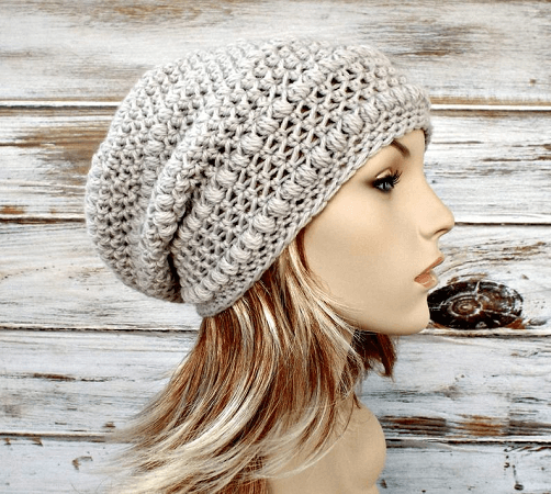 Crochet Slouchy Beanie Pattern by Pixie Bell