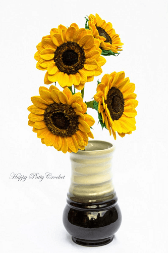 Crochet Sunflower Pattern by Happy Patty Crochet
