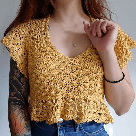 Crochet Top Pattern by Shop Daisy And Dime