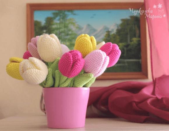 Crochet Tulip Flower Pattern by My Cro Wonders