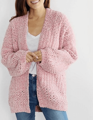 Crochet Velvet Cardigan Pattern by Lakeside Loops