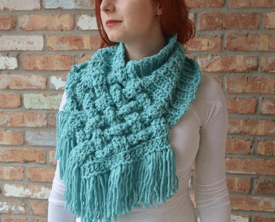 Crochet Woven Scarf Pattern by Loop Tee Loops
