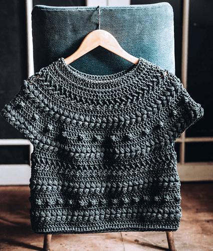 Crochet Zalktis Top Pattern by Eleven Handmade