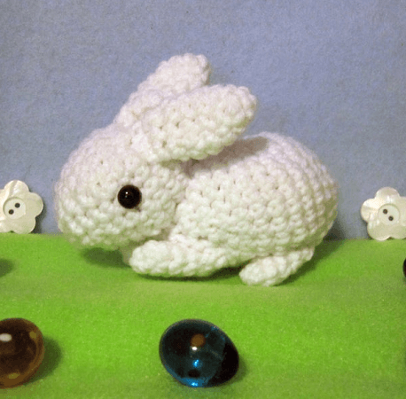 Cute Bunny Amigurumi Pattern by Nerdy Knitter Designs