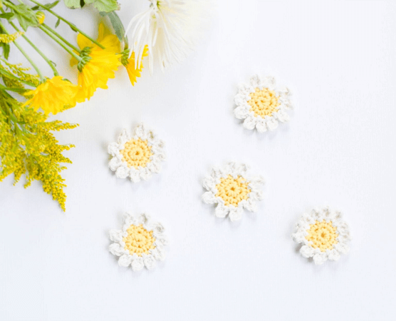 Daisies Free Crochet Pattern by Mama In A Stitch