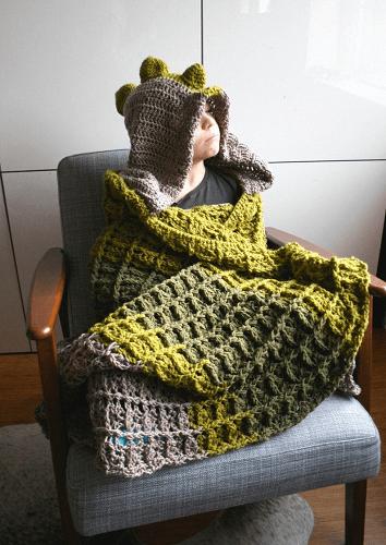 Dinosaur Blanket Crochet Pattern by Luz Patterns