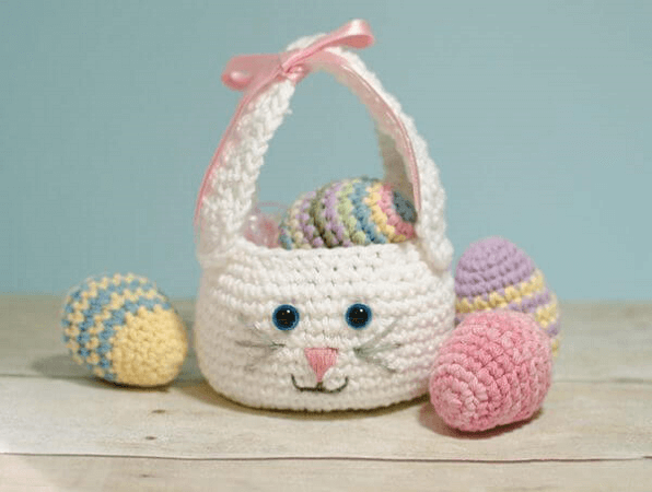 Easter Bunny Basket Crochet Pattern by Petals To Picots
