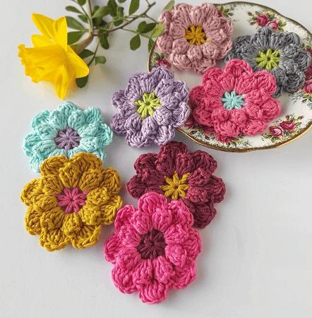 Easy Crochet Flowers Pattern by Annie Design Crochet