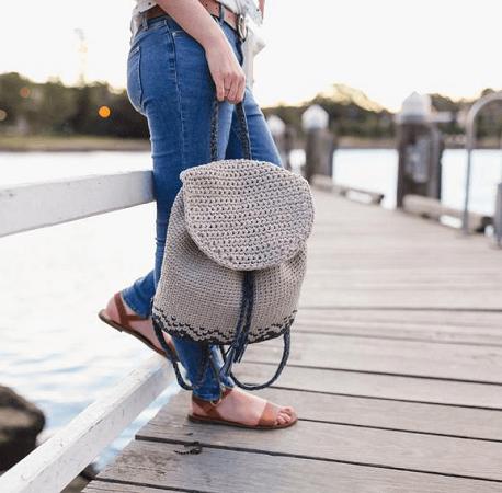 Florence Backpack Crochet Pattern by Hopeful Honey Designs