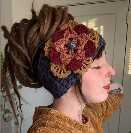 Flower Headband Crochet Pattern by Of Mars