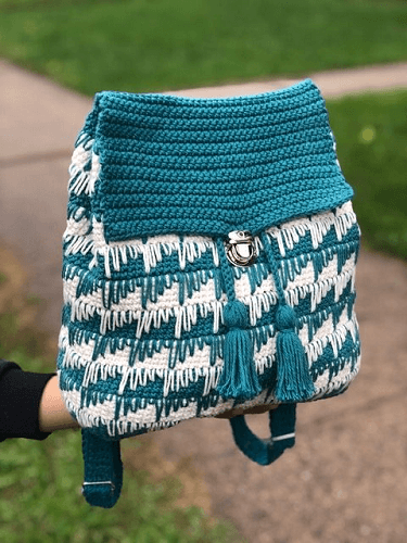 Free Crochet Backpack Pattern by Knitcro Addict
