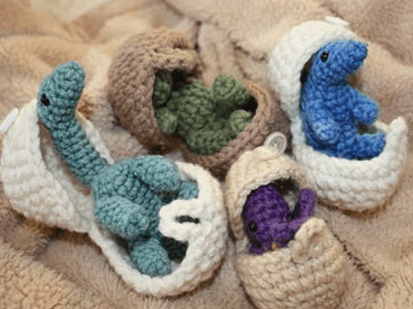 Hatching Dinosaur Eggs Crochet Pattern by Crocheting In Canada