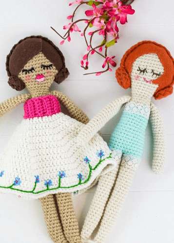 Heirloom Crochet Doll Pattern by Winding Road Crochet