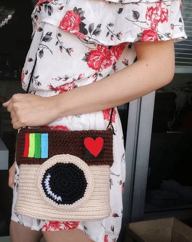 Instagram Purse Crochet Pattern by Once Upon A Cheerio