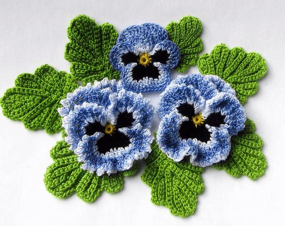 Irish Crochet Flower Pattern by Fox Stitch Design