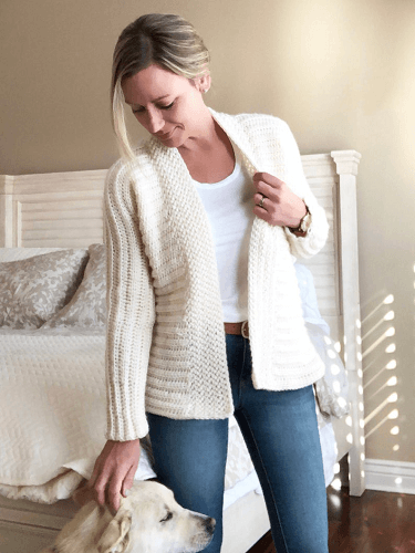 Kaleigh Crochet Cardigan Pattern by Ruby Webbs