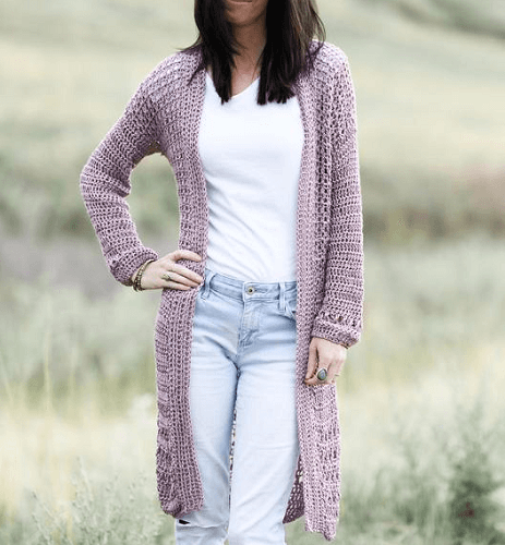 Longline Cardigan Crochet Pattern by Mama In A Stitch