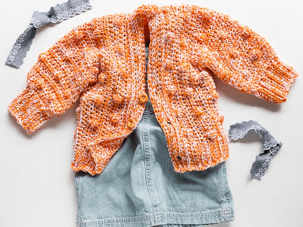 Lynden Baby Sweater Crochet Pattern by Teal And Finch